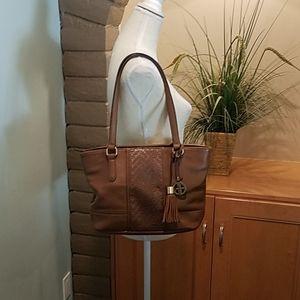 *Giani Bernini Brown Leather Shoulder Bag